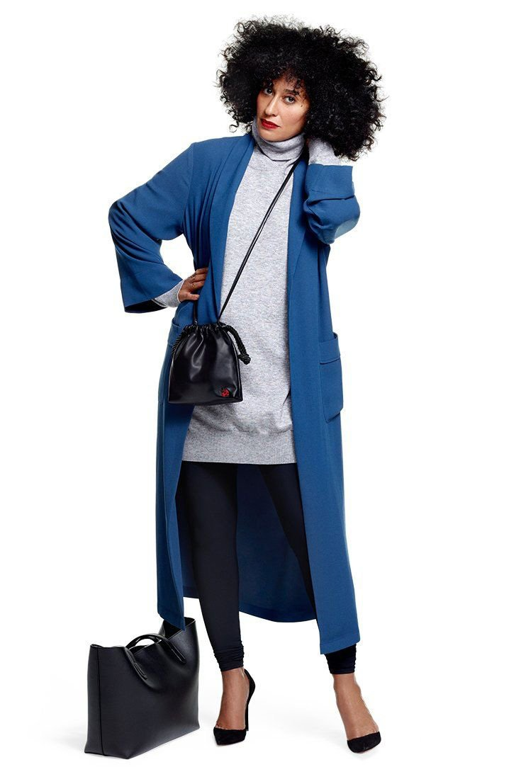 Tracee Ellis Ross x JC Penney Bliss Robe Coat Blue