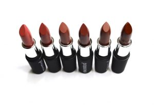 Mented Cosmetics Nude Lipsticks Pretty in Pink, Nude LaLa, Dope Taupe, Mented #5, Foxy Brown, Dark Knight