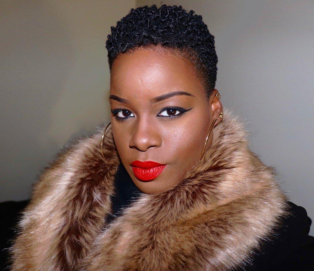 Fenty Beauty Uncensored Stunna Lip Paint on Dark Skin