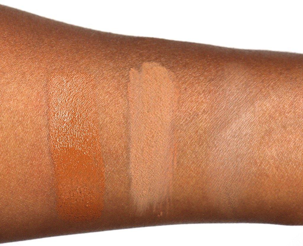 Lancome Teint Idole Ultra Longwear Foundation Stick 510 C Swatch & Translucence Silky Loose Powder 500 Swatch