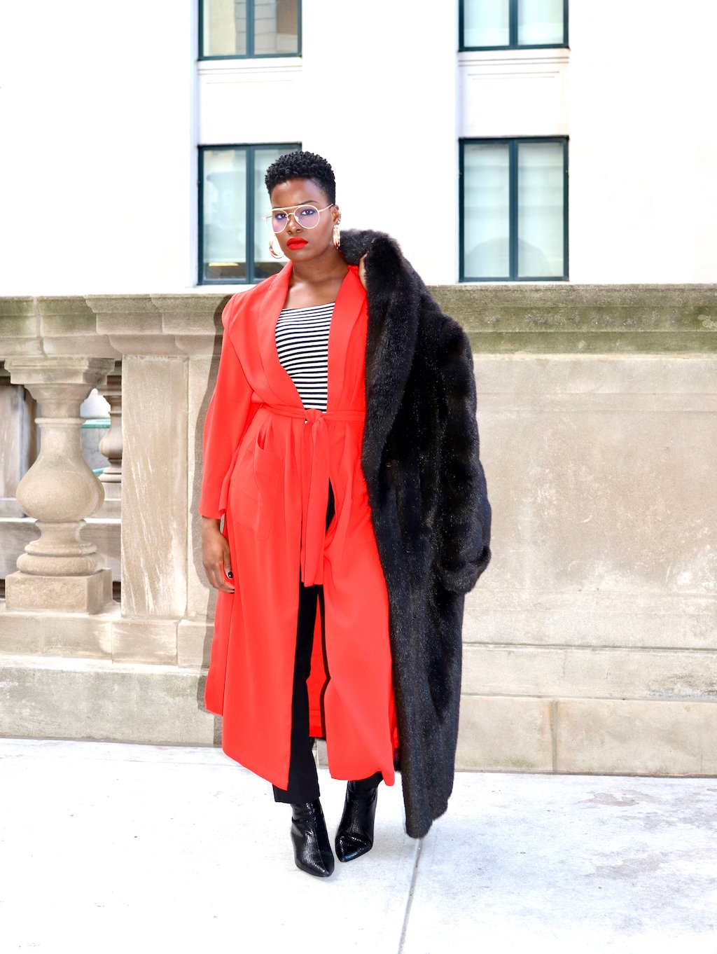 Tracee Ellis Ross for JC Penney Bliss Robe Coat Outfit