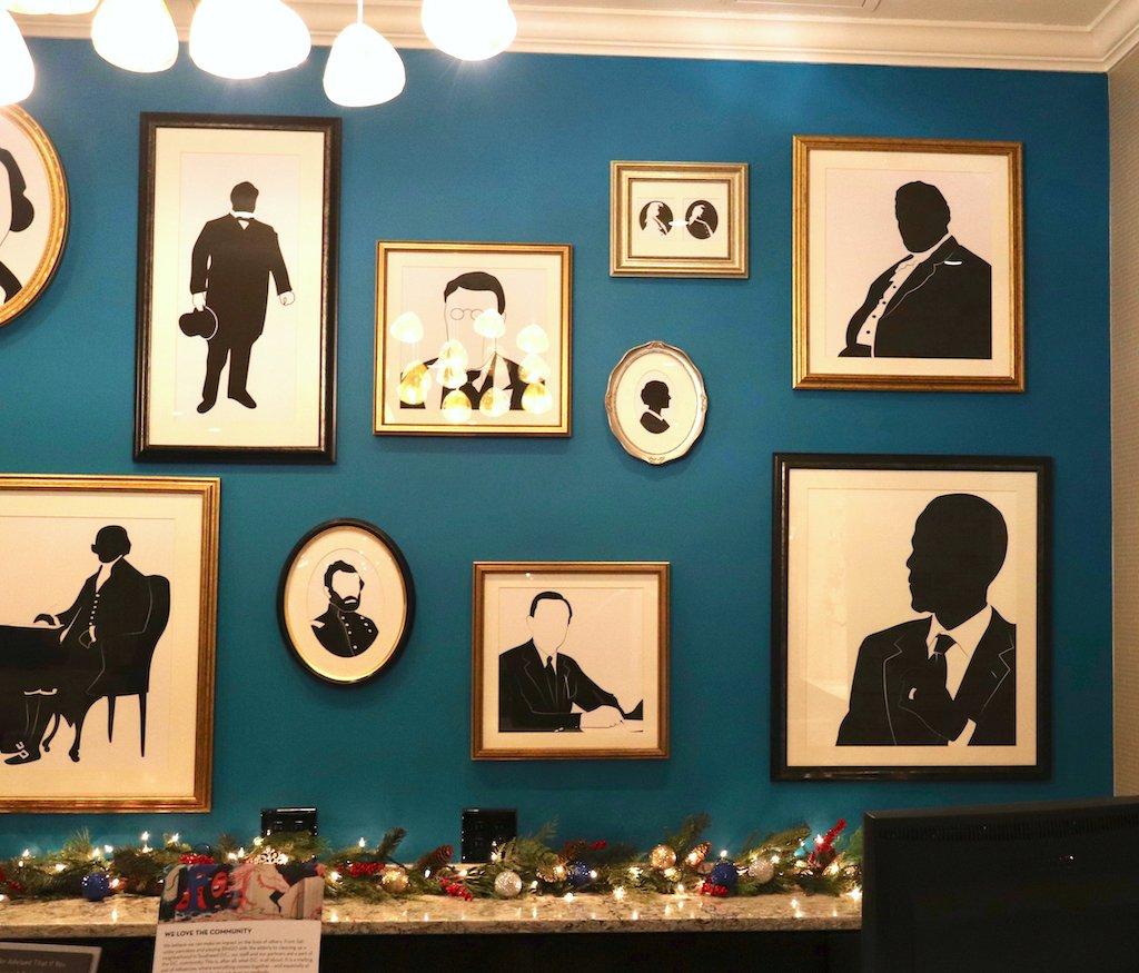 Embassy Row Hotel Lobby Gallery Wall