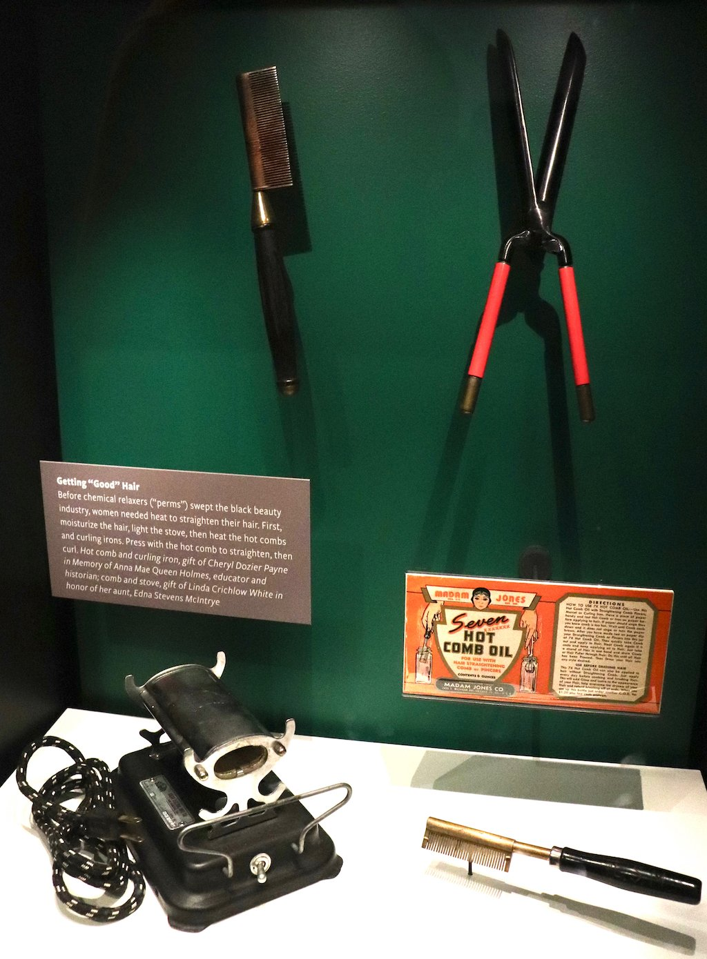 National Museum of African American History and Culture Hot Comb