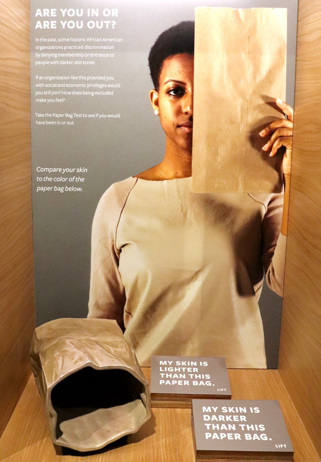 National Museum of African American History and Culture Paper Bag Test