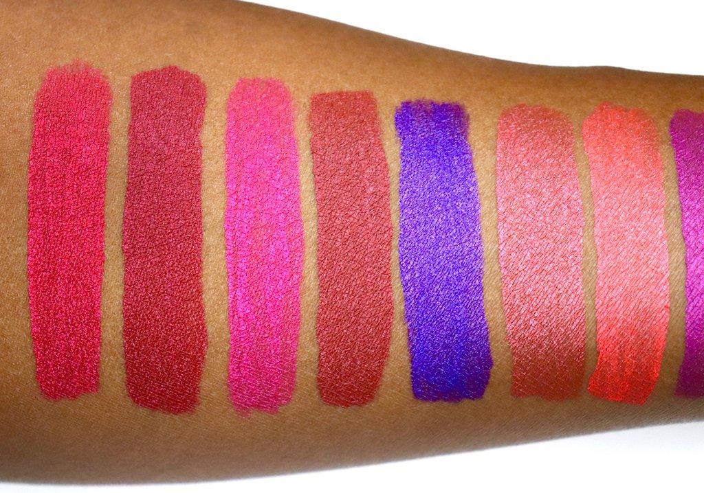 NYX Soft Matte Metallic Lip Creams Swatches