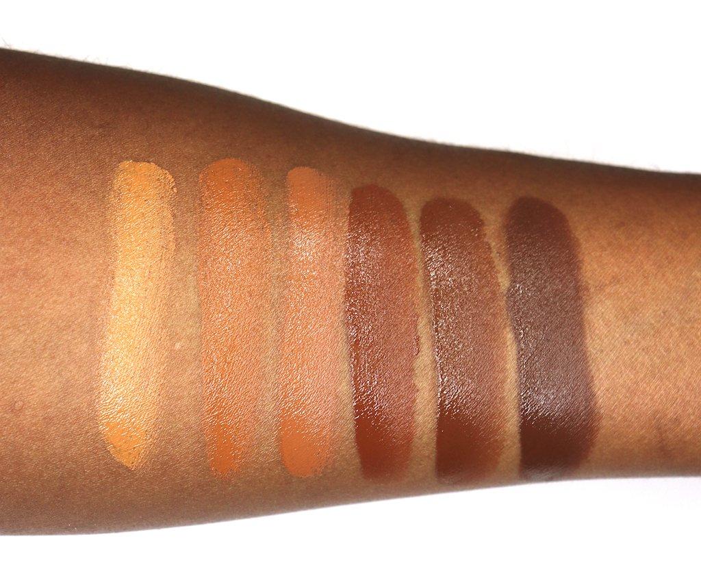 Sleek makeup Cream Contour Kit Extra Dark Swatches