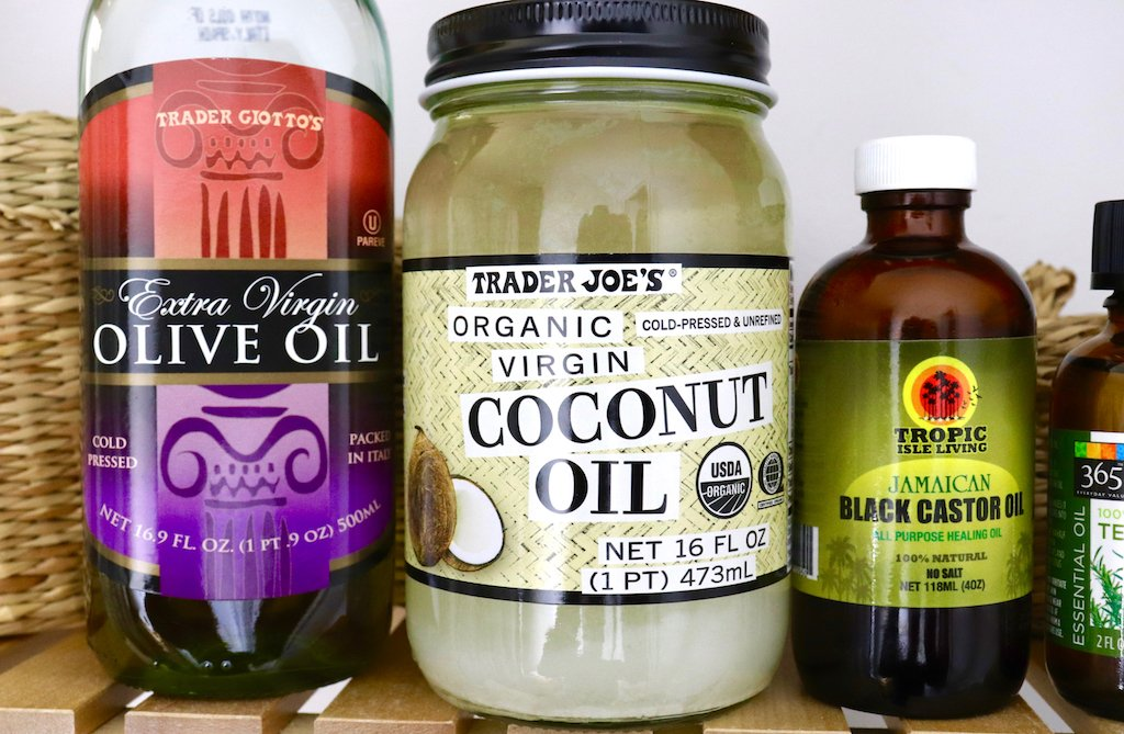 Olive Oil, Coconut Oil and Jamaican Black Castor Oil