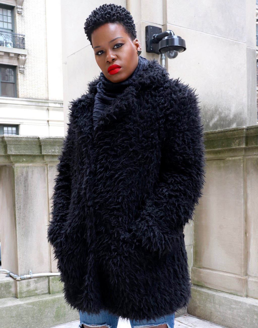 Teddy Bear Coat NYFW