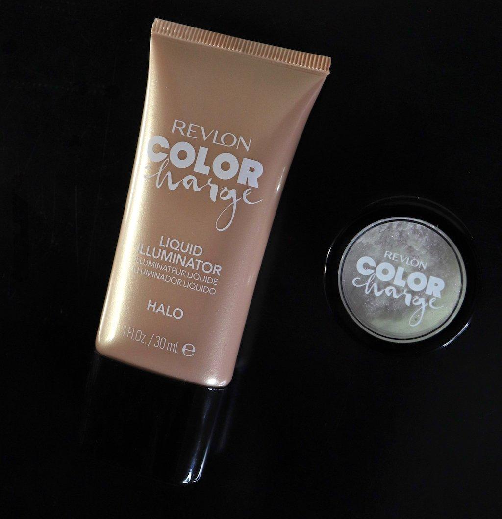 revlon color charge halo liquid illuminator and holographic loose powder