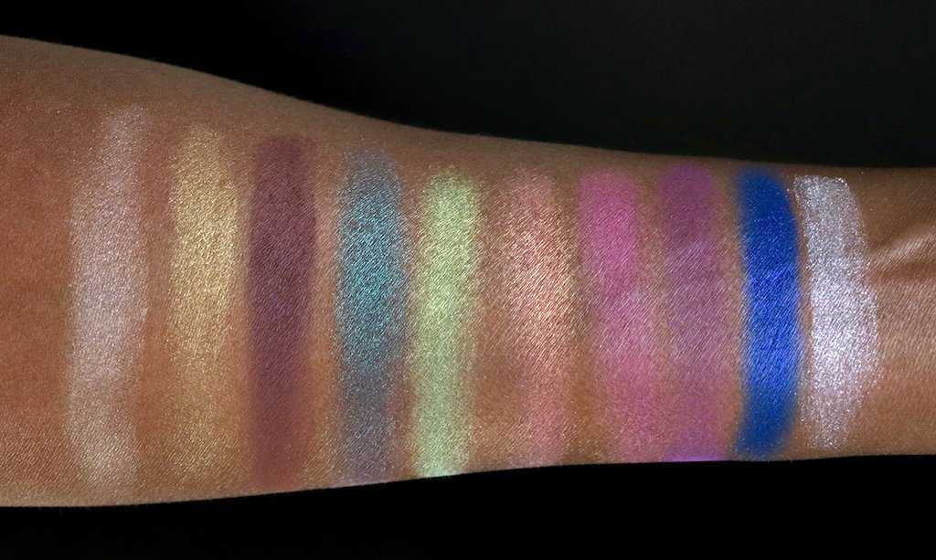 revlon color charge shadow palette color collage swatches dark skin