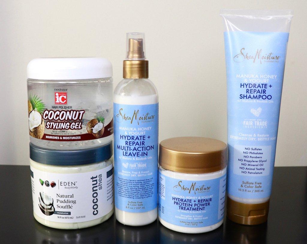 Sheamoisture Manuka Honey & Yogurt Collection 4C Hair