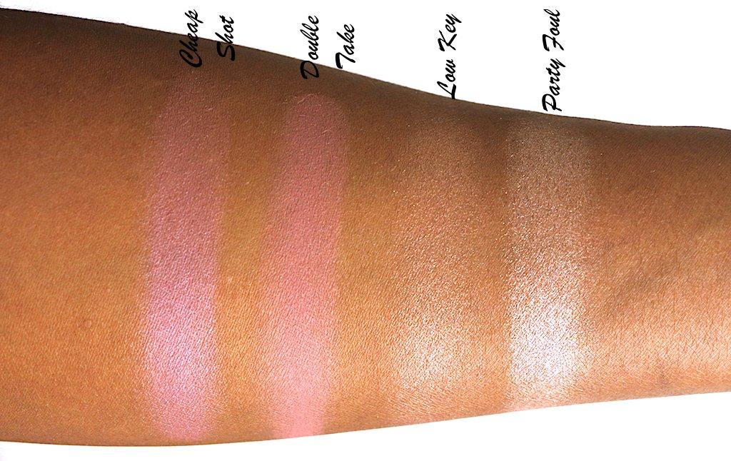 urban decay backtalk palette blush swatches dark skin