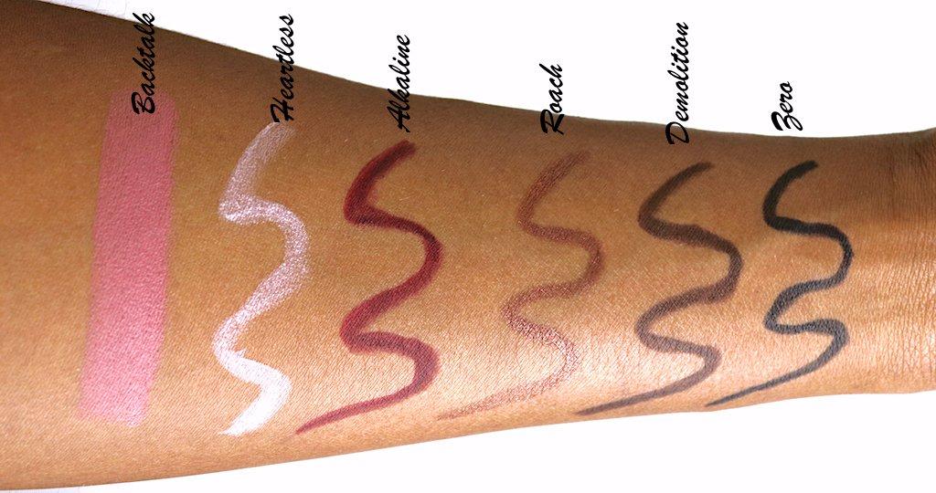 urban decay backtalk vice lipstick swatch dark skin