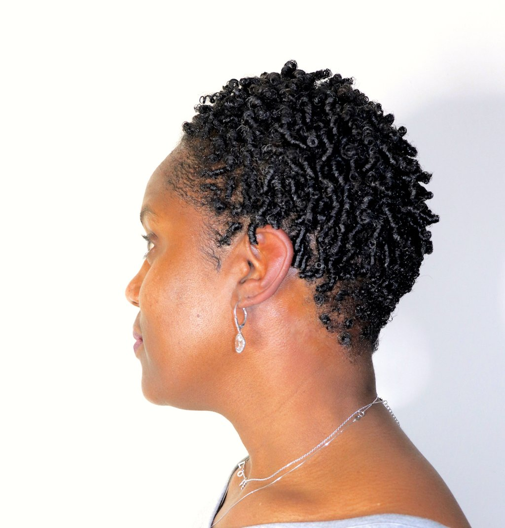 glammzmore NYC natural hair stylist finger coils