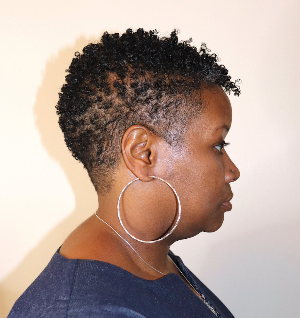 glammzmore NYC natural hair stylist tapered cut type 3 hair