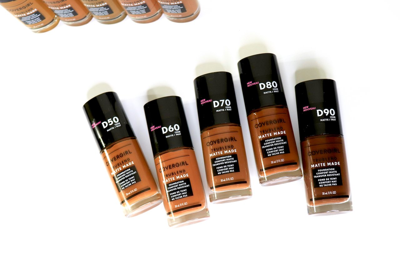 covergirl trublend matte made foundation deep shades
