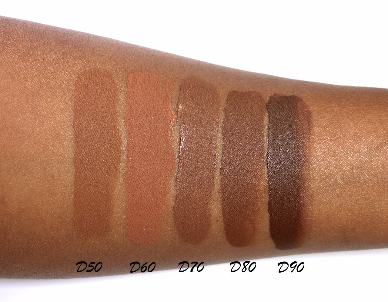 CoverGirl Trublend Matte Made foundation swatches D50-D90