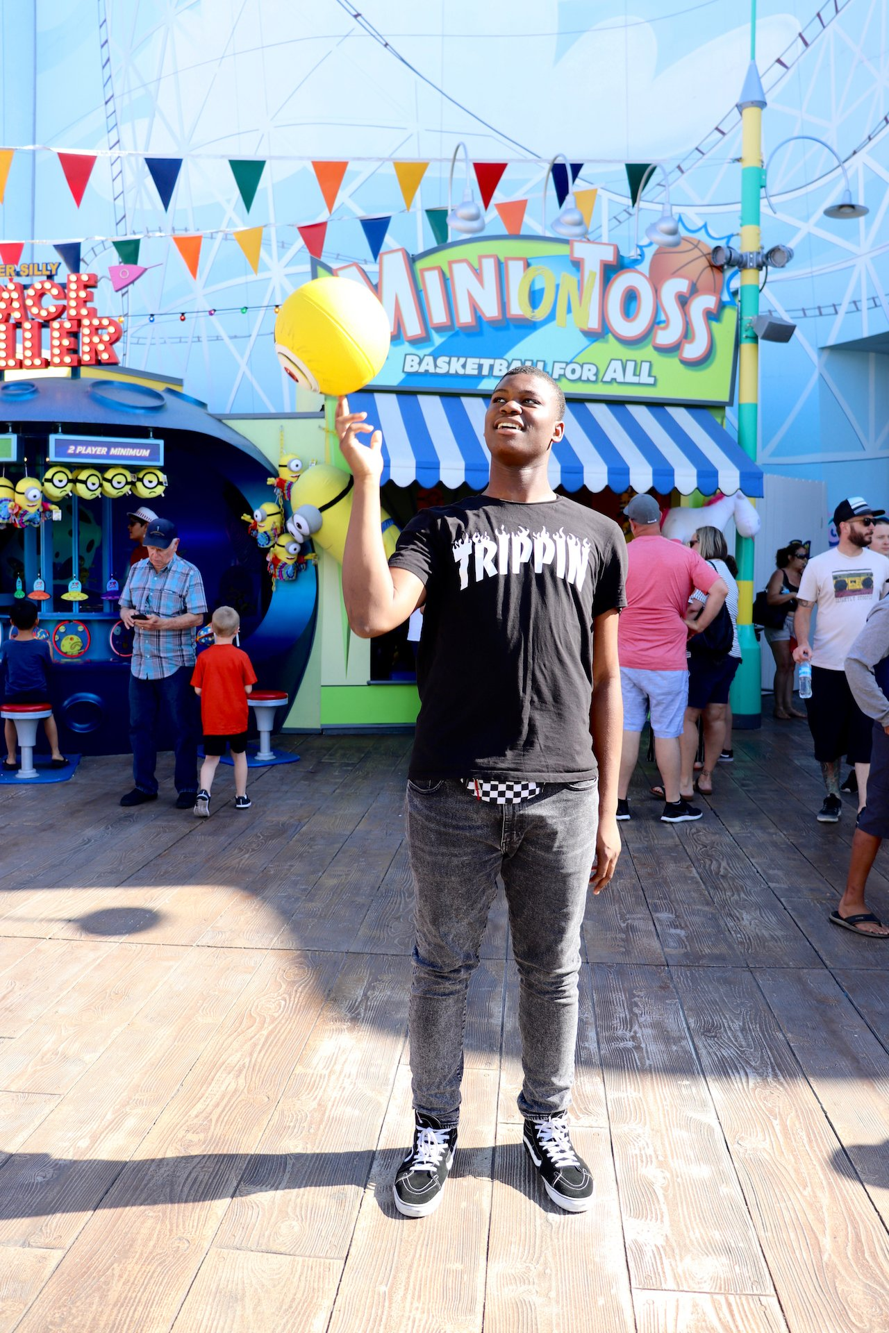 Shooting Hoops at Universal Studios Hollywood
