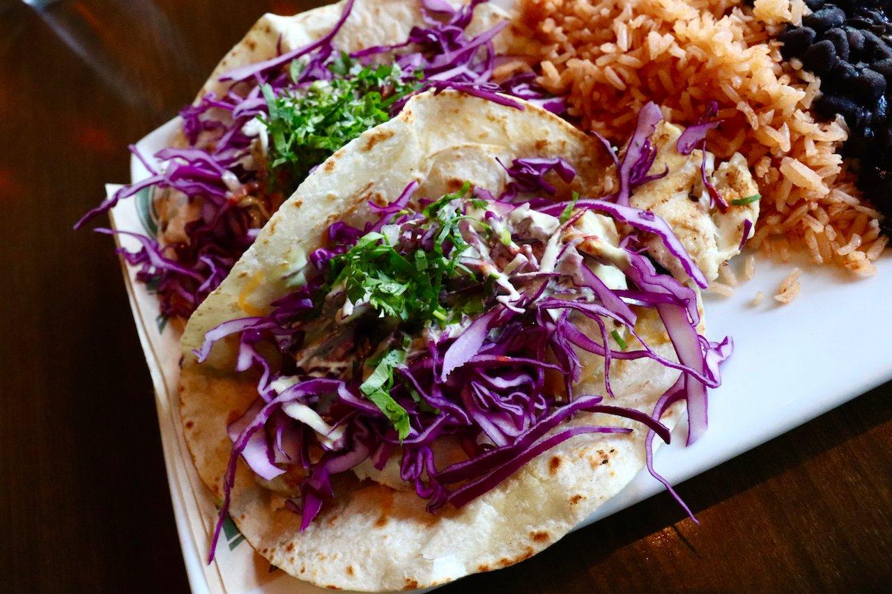 Abbot Kinney Casa Linda Halibut Tacos Platter