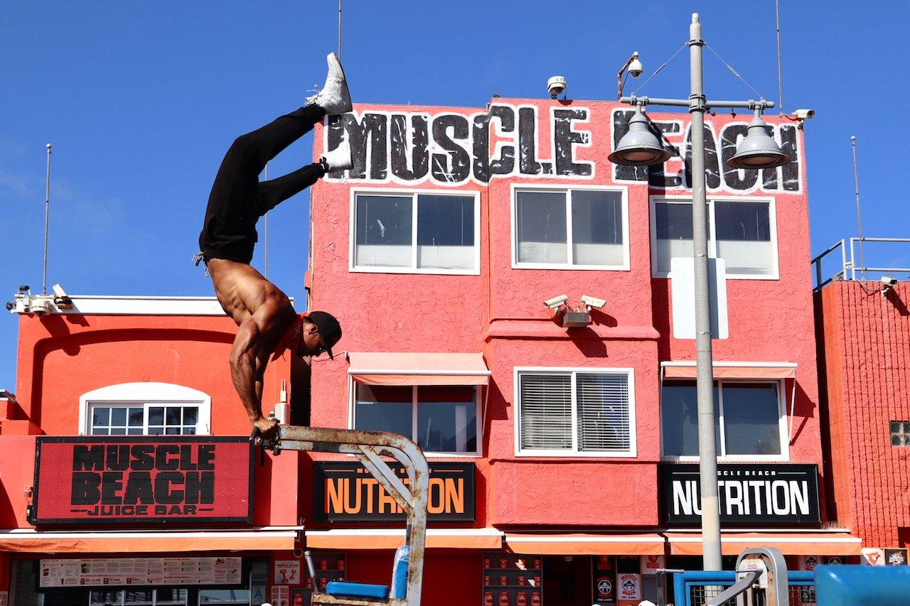 Day Trip To Venice Beach Muscle Beach