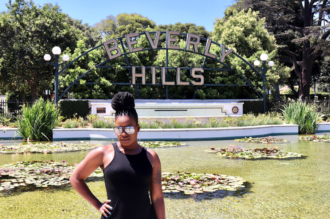 Beverly Hills Sign Beverly Gardens Park