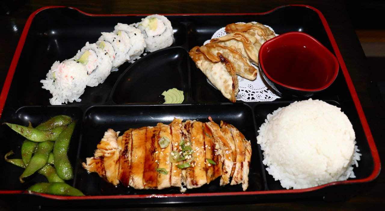 LA Trip Dinner Kino Sushi Hollywood Bento Box