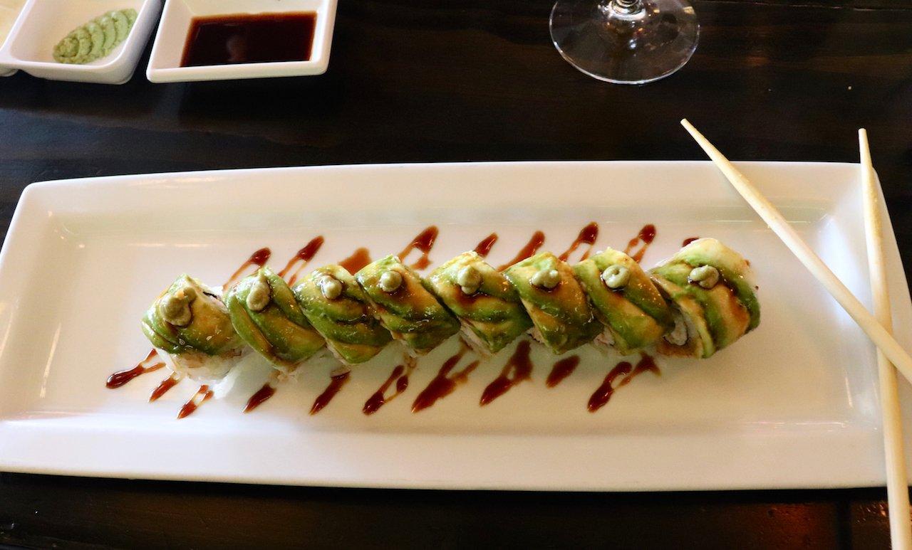 LA Trip Dinner Kino Sushi Hollywood Caterpillar Roll
