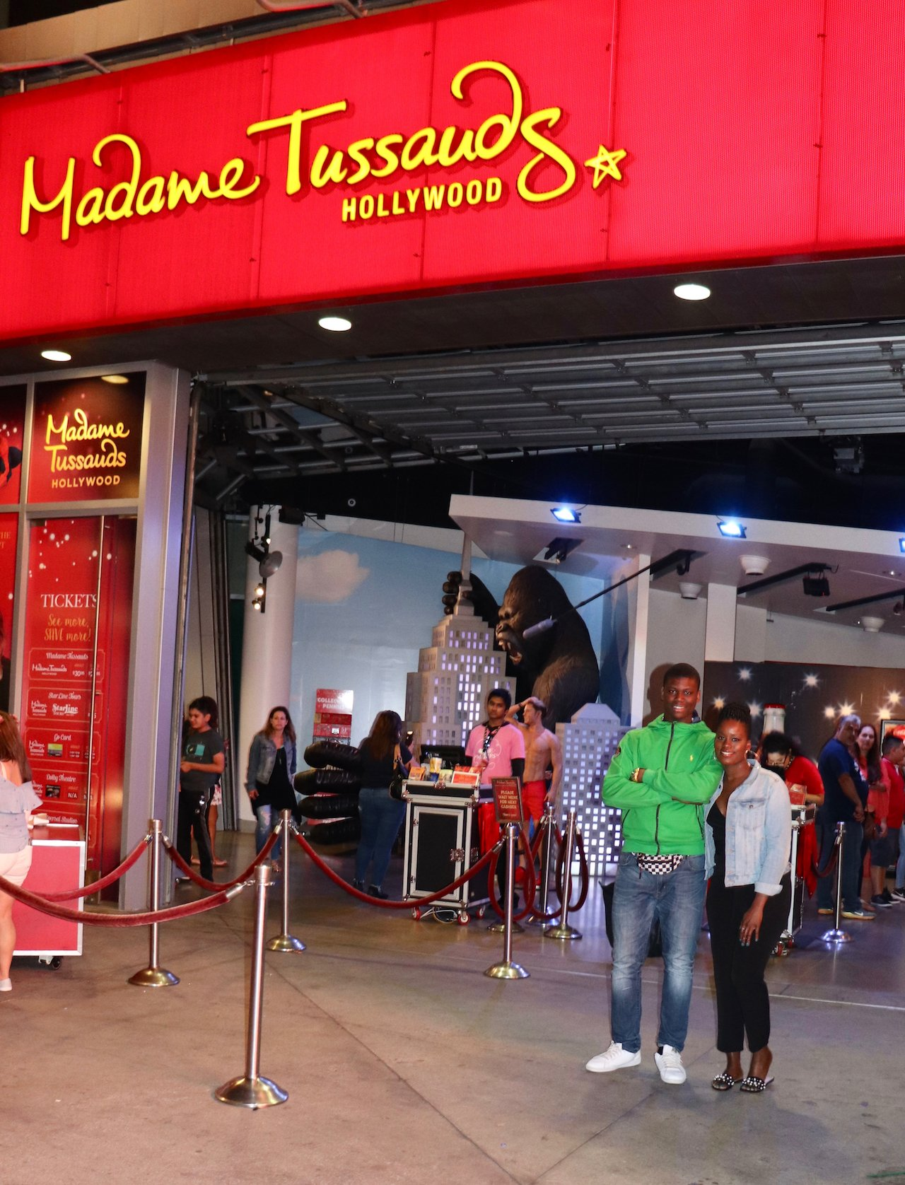 Hollywood Boulevard With Teens Madame Tussauds