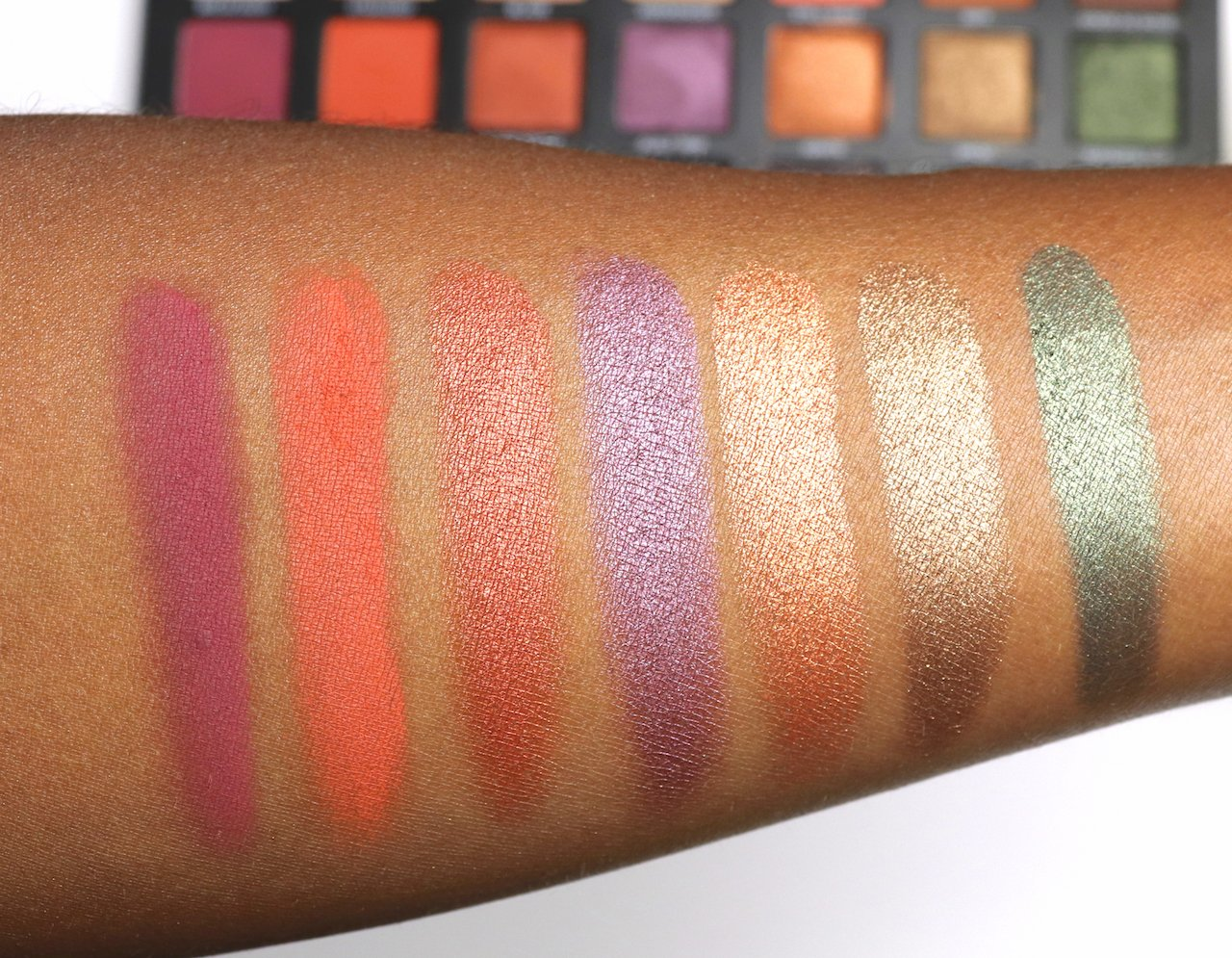urban decay born to run eyeshadow palette swatches row 2