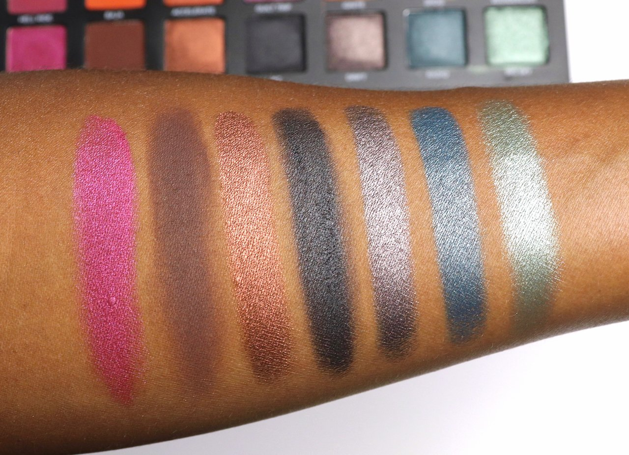 urban decay born to run eyeshadow palette swatches row 3