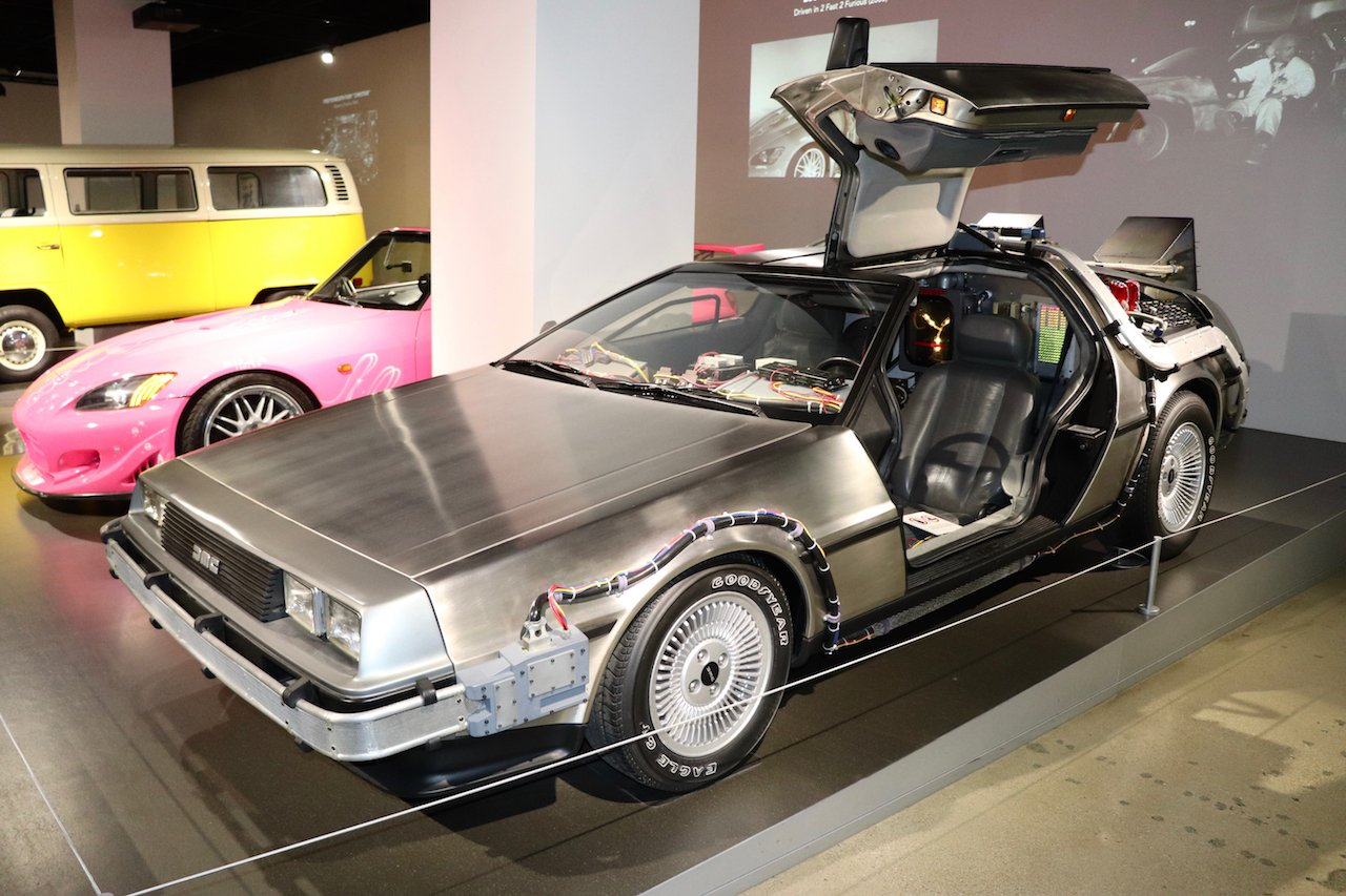 LA Museum Row Petersen Automotive Museum Back To The Future Delorean