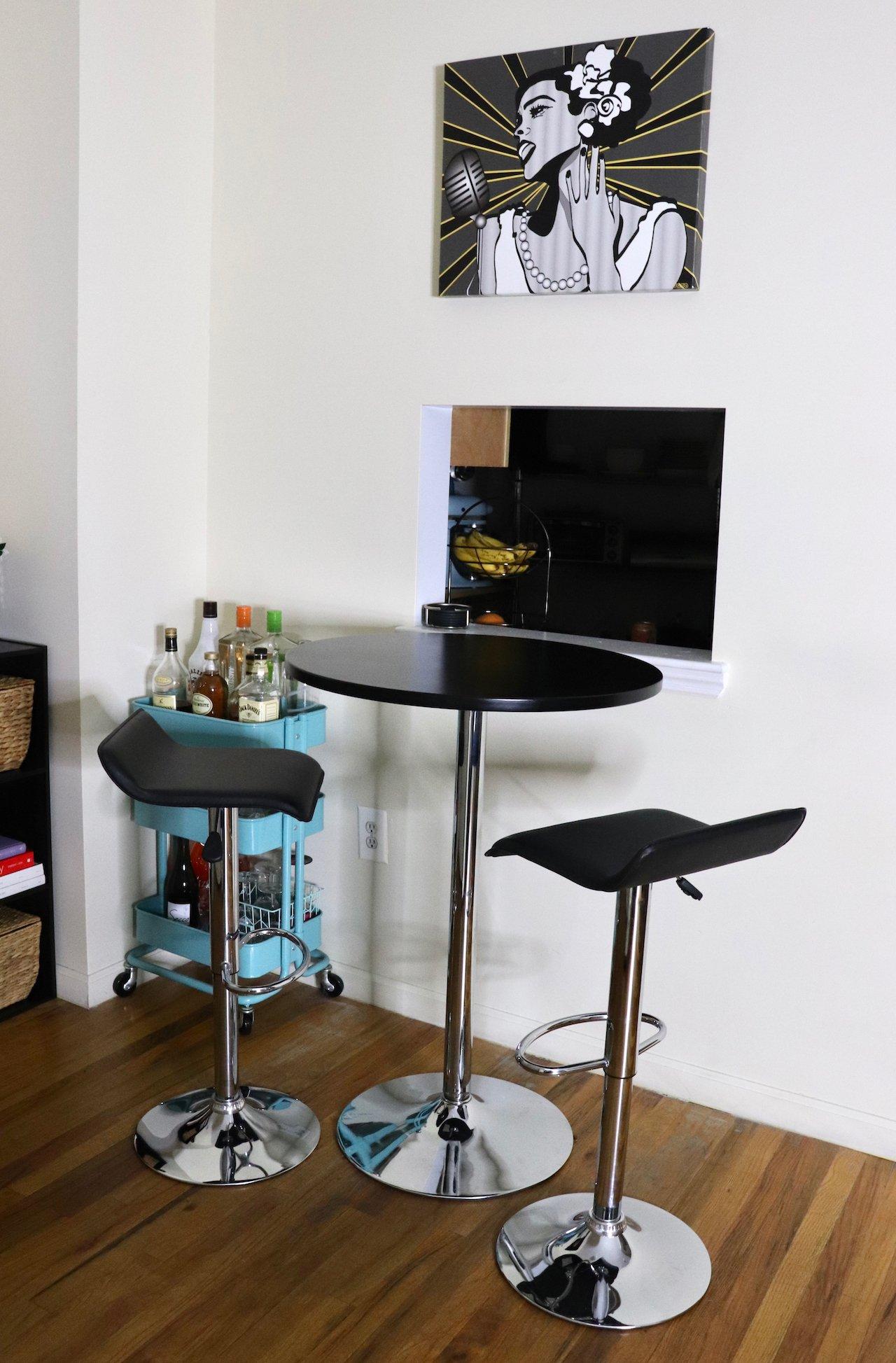 Bar Table & Stools NYC Apartment