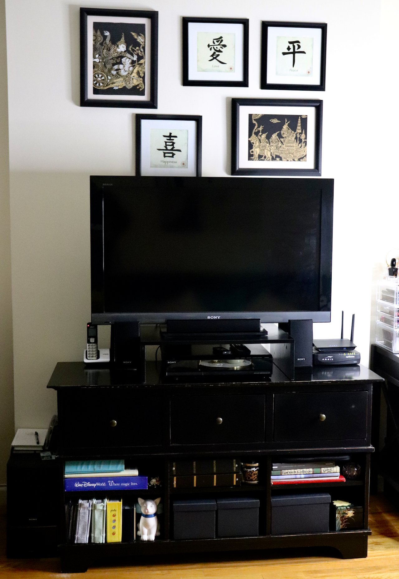 living room makeover entertainment system
