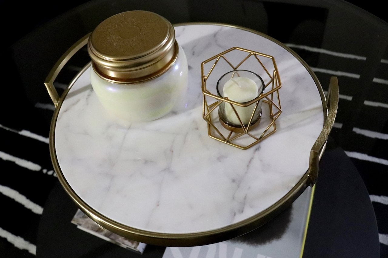 Project 62 Gold and Marble Tray