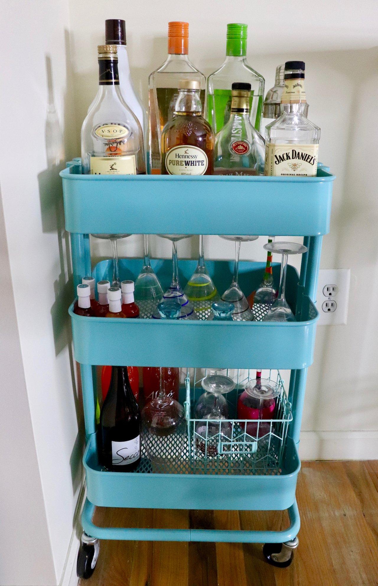 living room ikea raskog bar cart