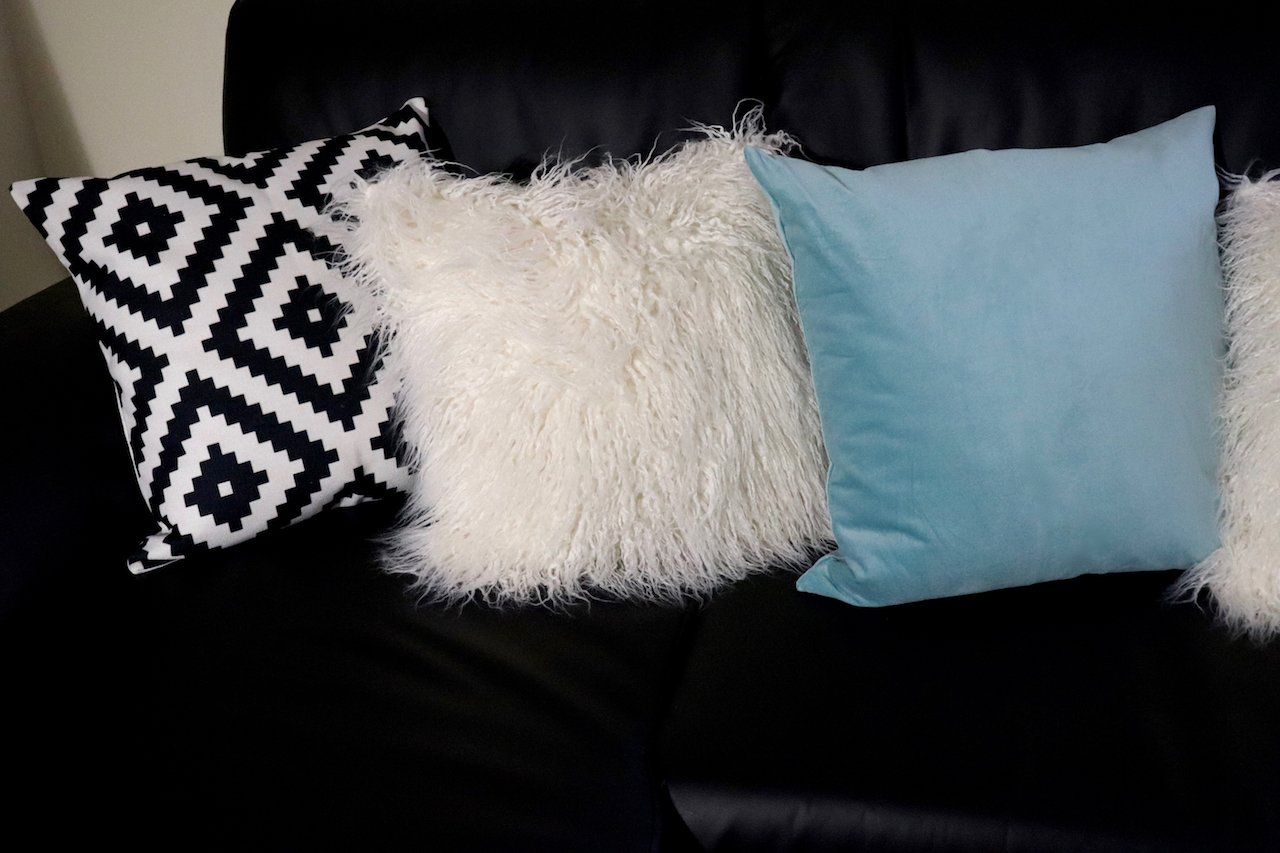 living room makeover throw pillows