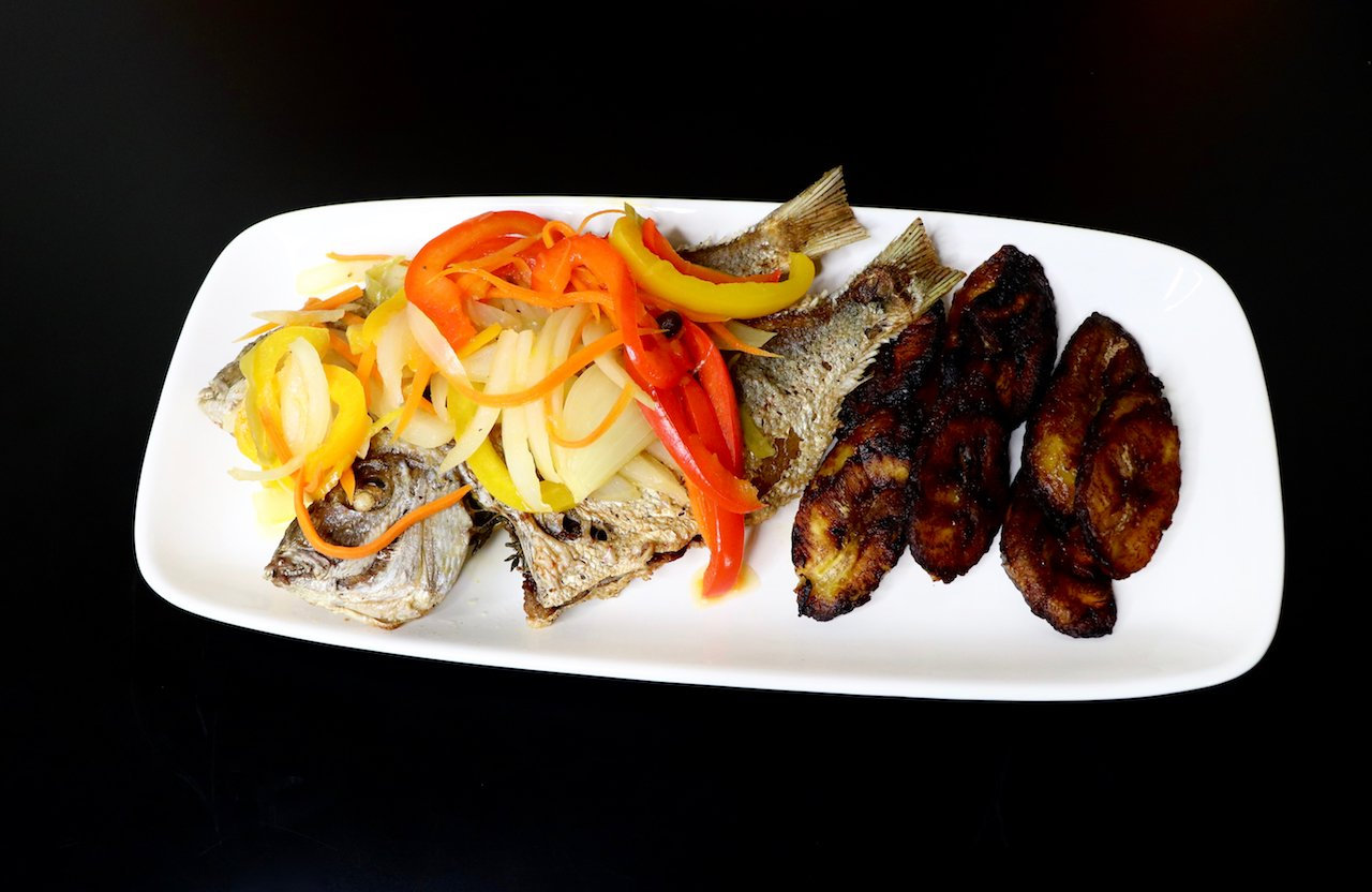 Escovitch Fish with Sweet Plantains