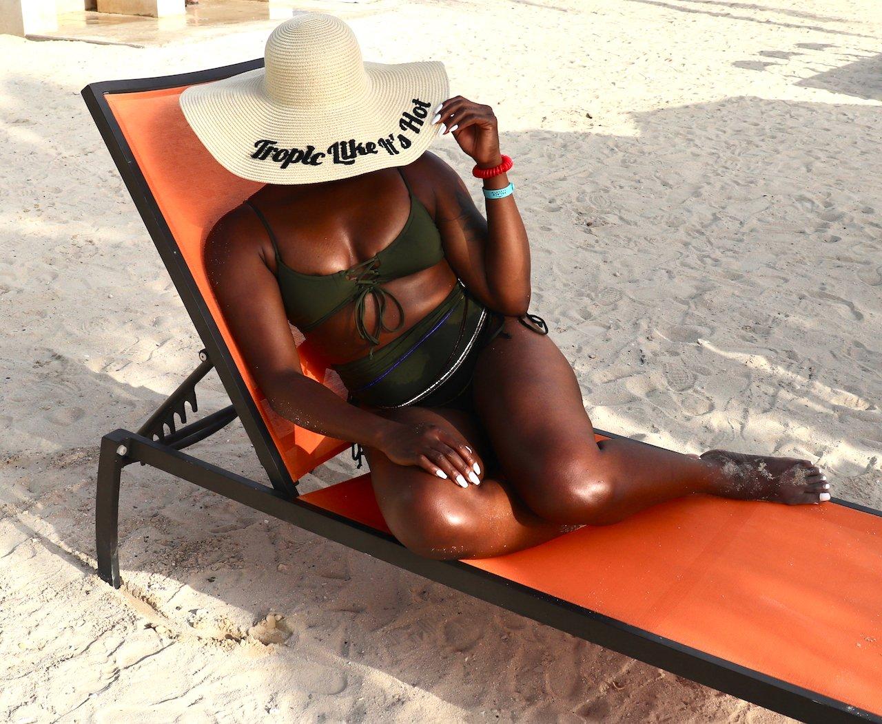 LACE UP HIGH-WAISTED BIKINI OCHO RIOS JAMAICA