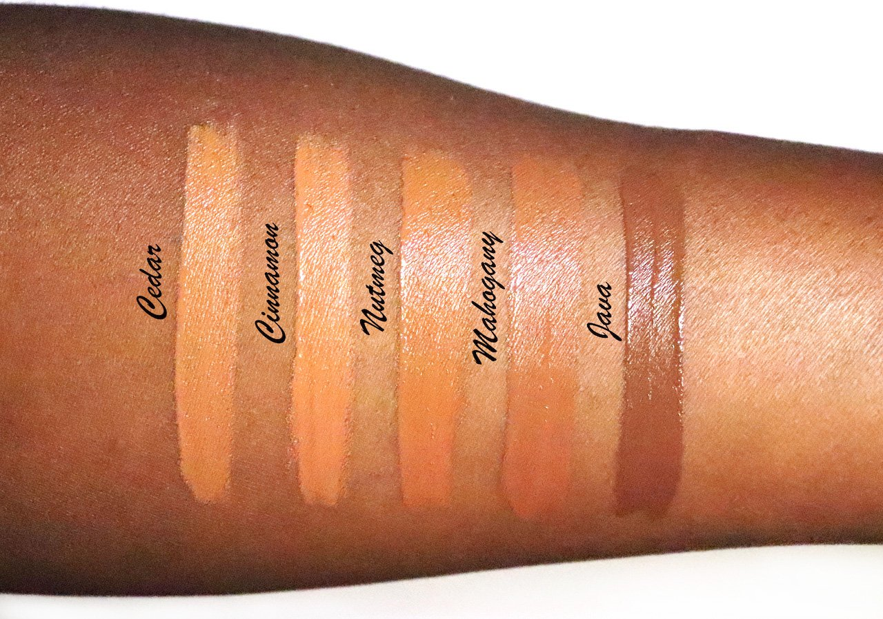 Becca Ultimate Coverage Longwear Concealer Deep Shades Swatches