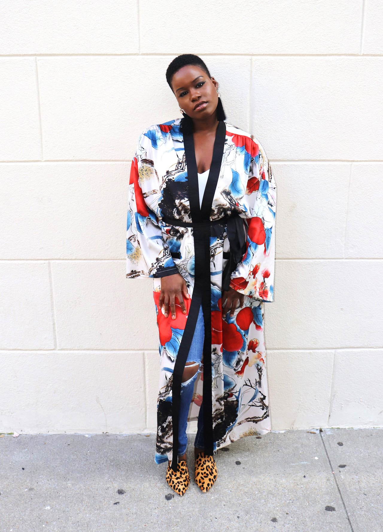 What To Wear With A Floral Kimono