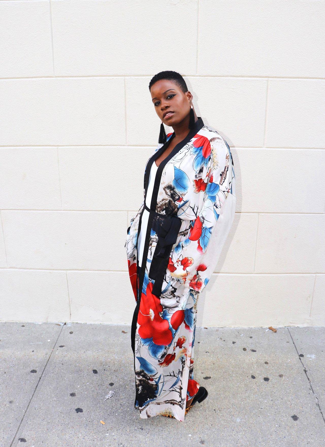How To Wear Shein Calico Kimono