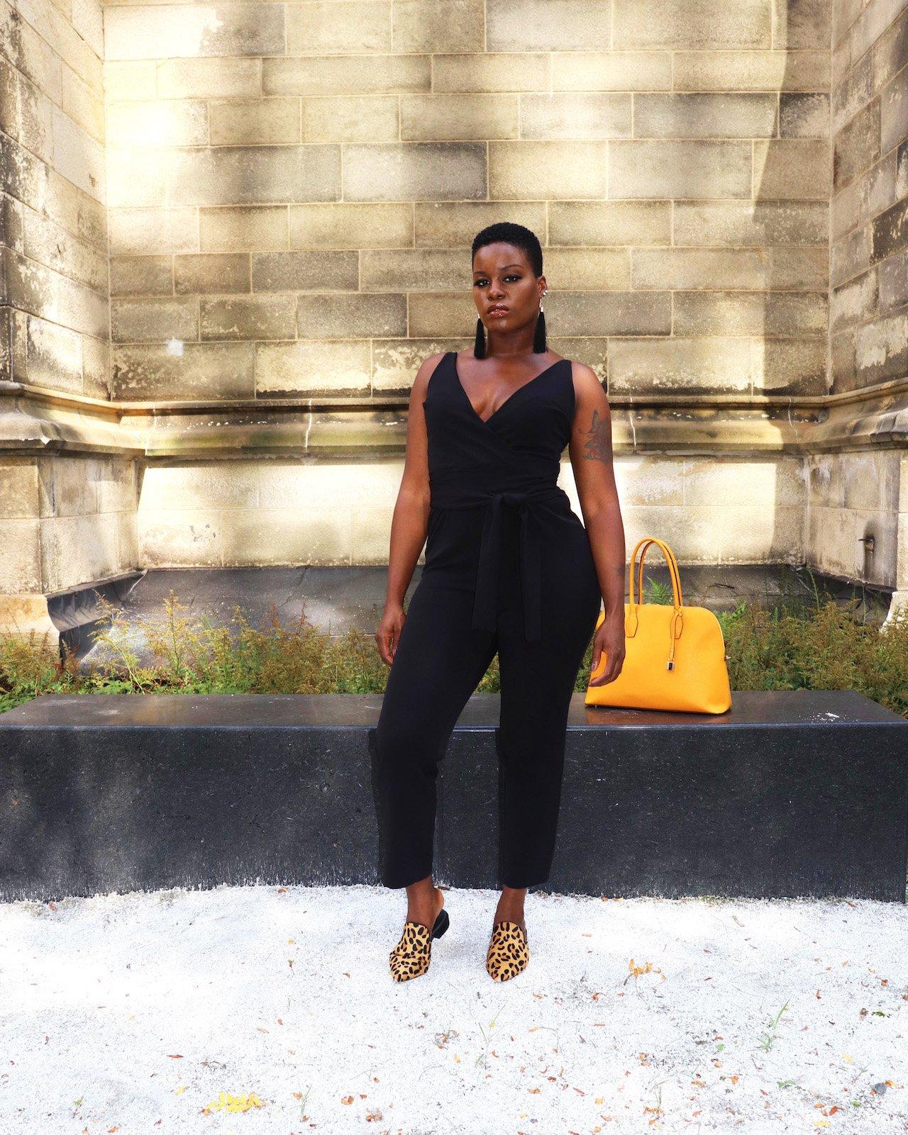 Black ASOS Jumpsuit Outfit