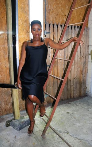 How To Wear A Little Black Slip Dress
