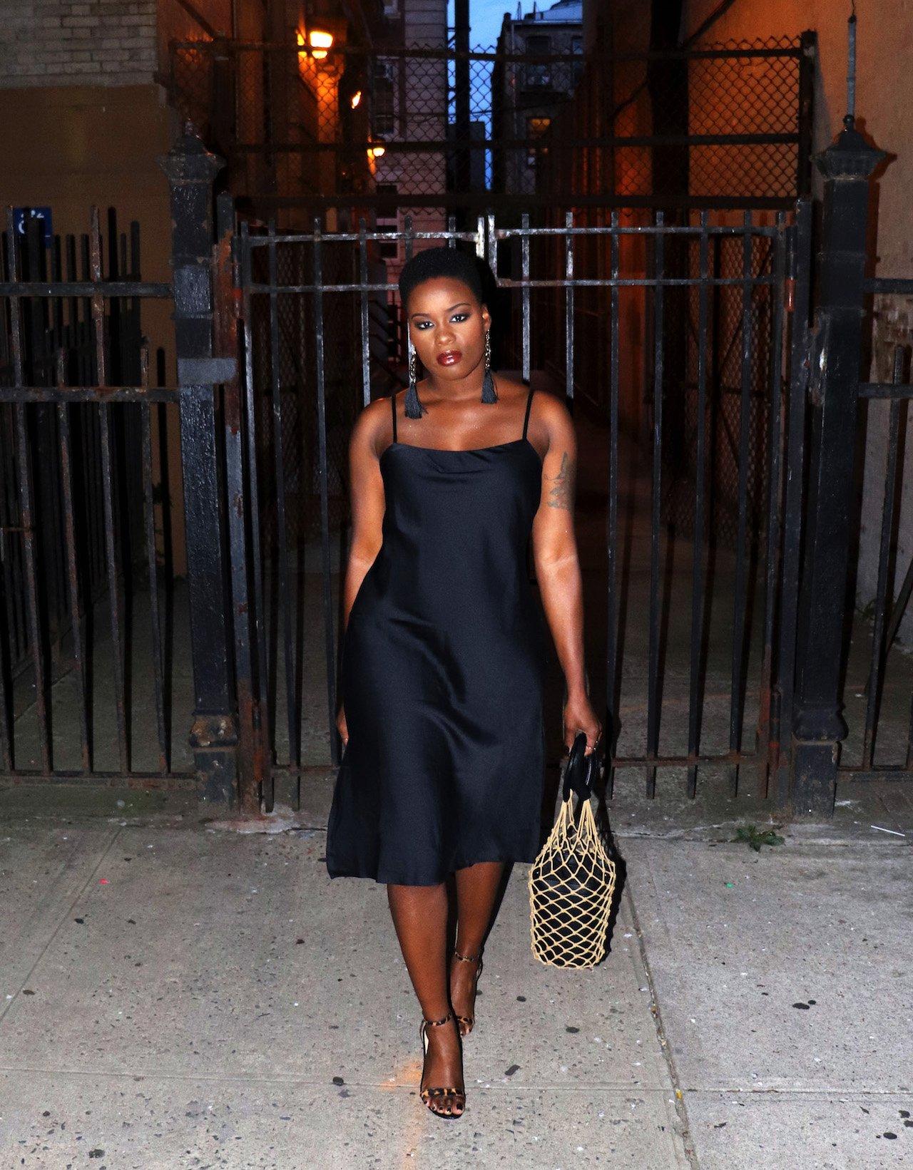 36th Birthday Outfit Black Slip Dress