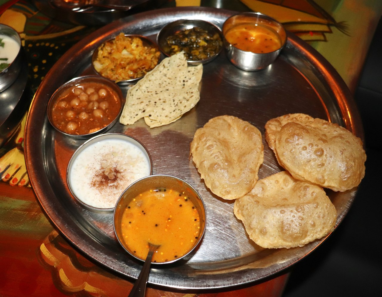 Vatan NYC Entree Thali with Puri