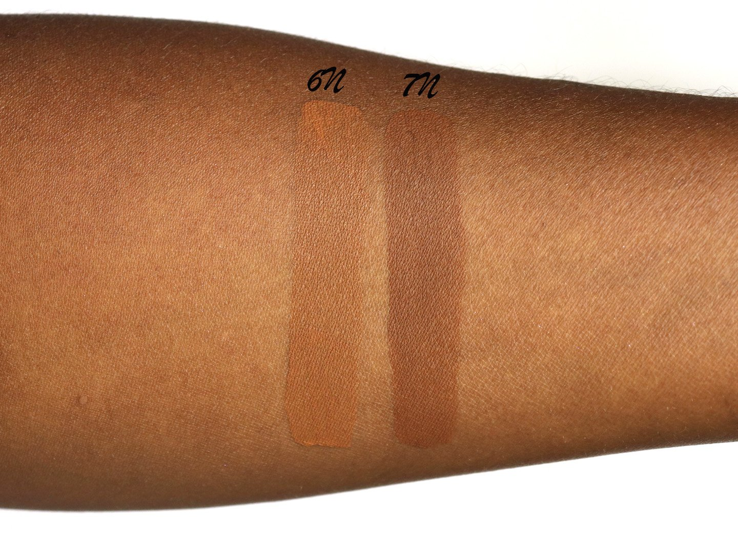 Dior Face & Body Foundation 6N & 7N Swatches