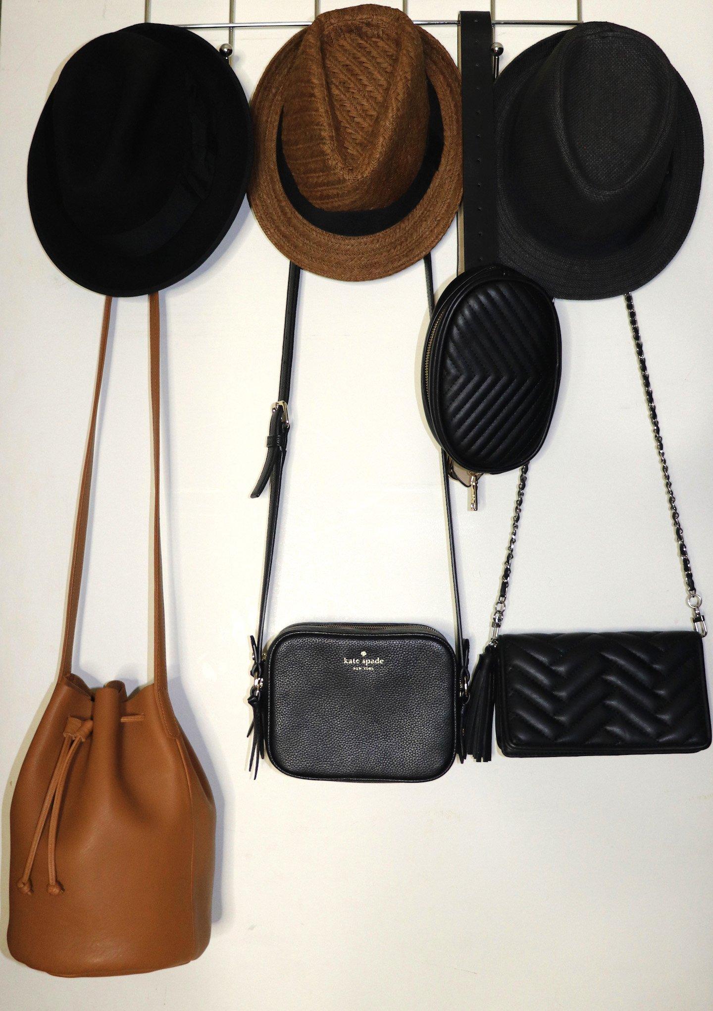 How To Organize Your Small NYC Closet Bags & Hats