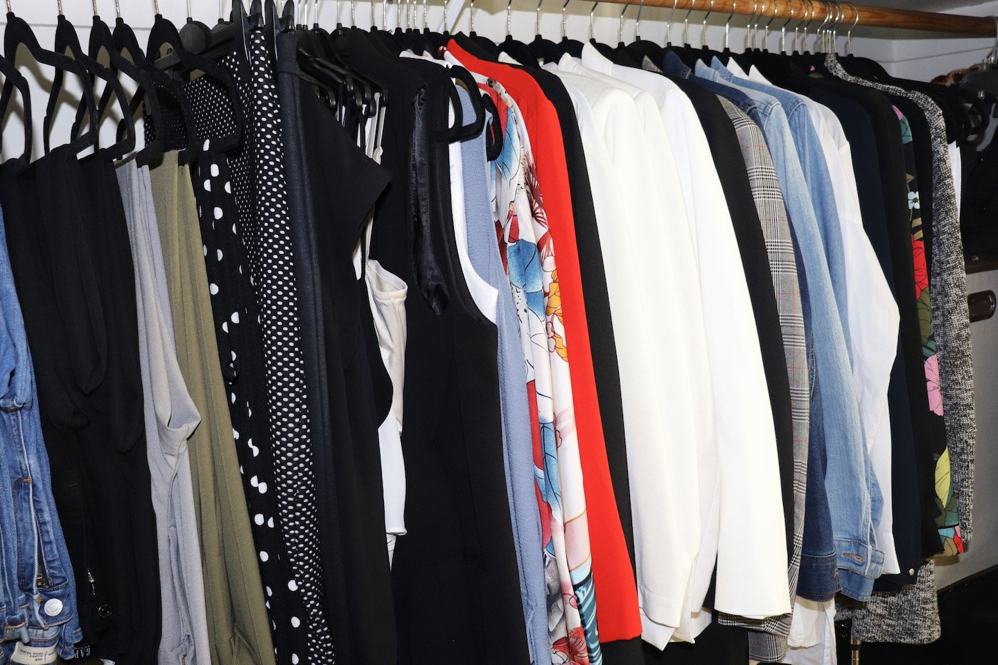How To Purge & Organize Your Small NYC Closet by clothing type