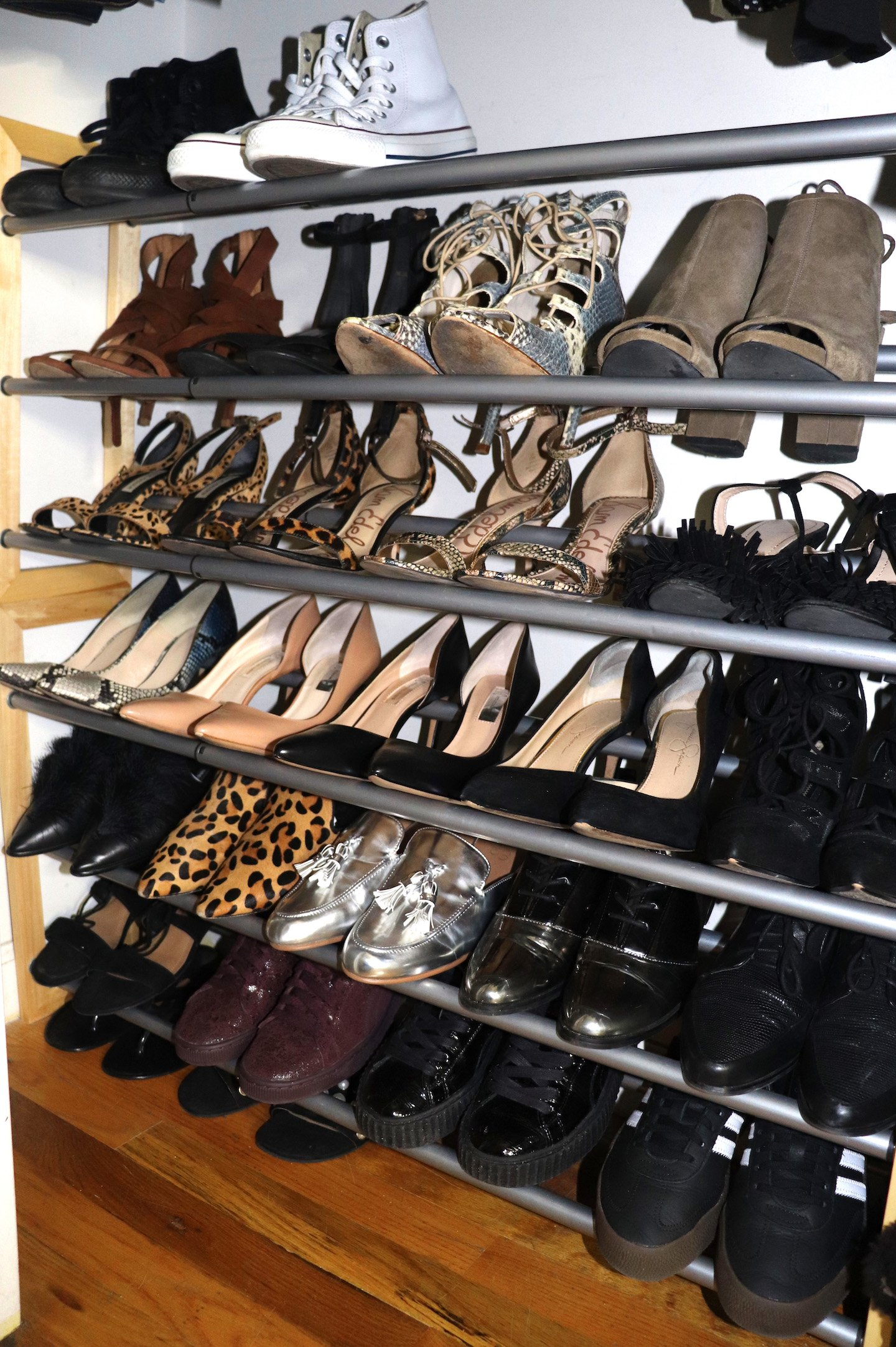 How To Organize Your Small NYC Closet Shoe Rack