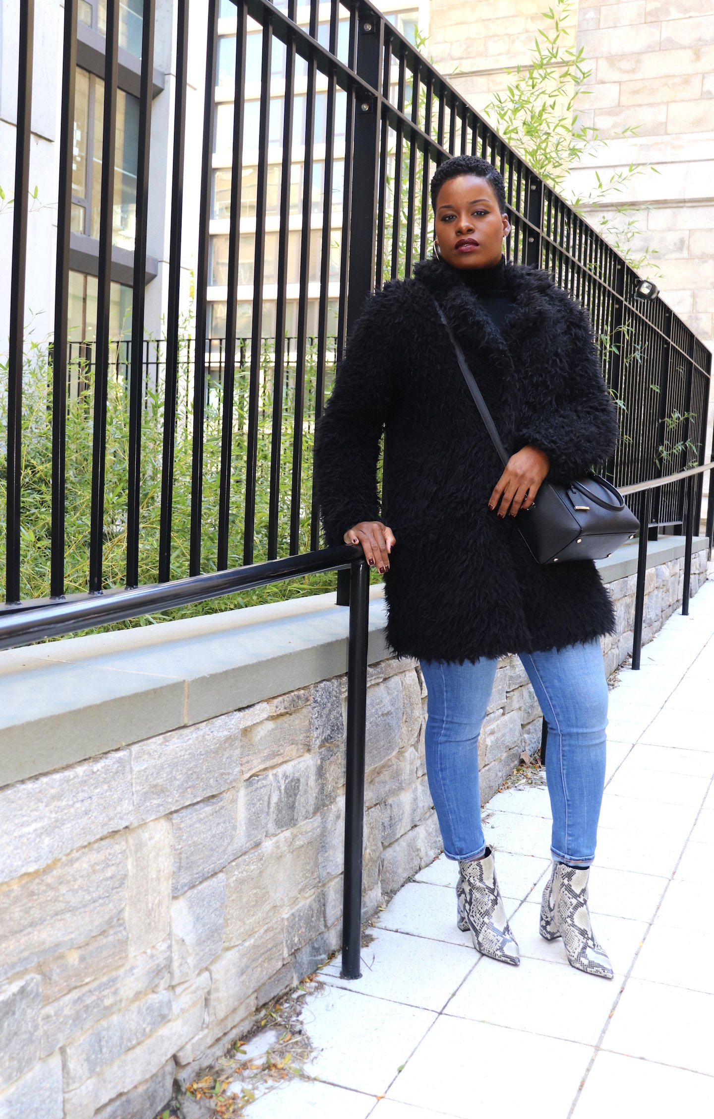 Marc Fisher Snakeskin Boots Outfit